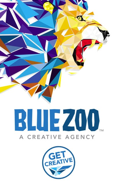 Ad for Blue Zoo Creative Creative Design for Web Print and Video