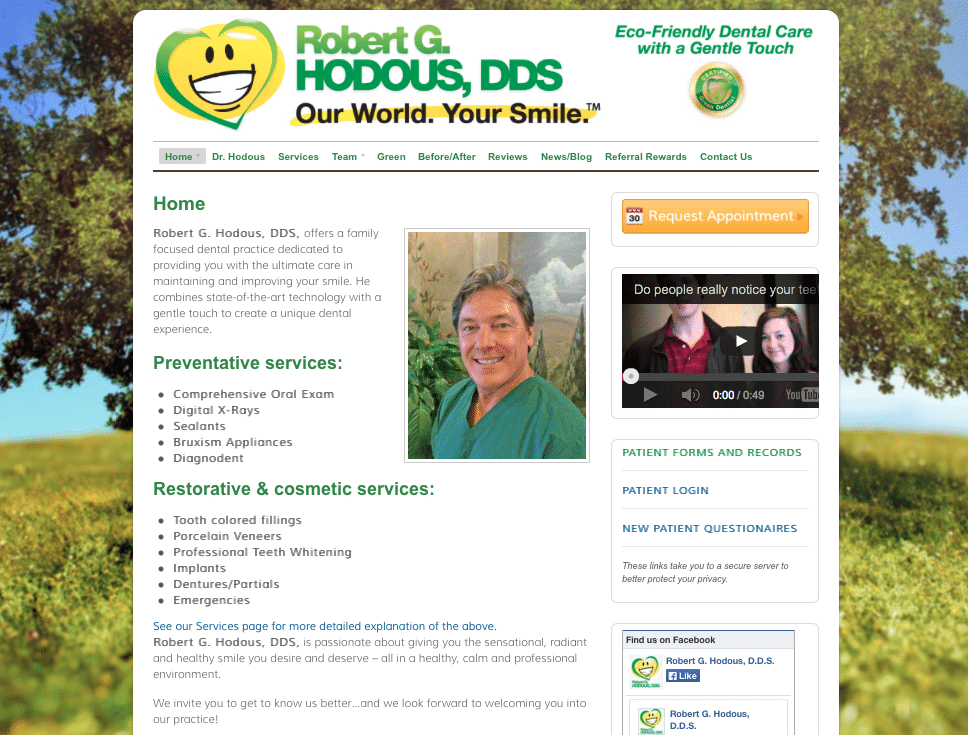 Dr. Robert Hodous, DDS Website